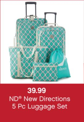39.99 ND® New Directions 5 Pc. Luggage Set