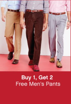 Buy 1, Get 2 Free Men's Pants