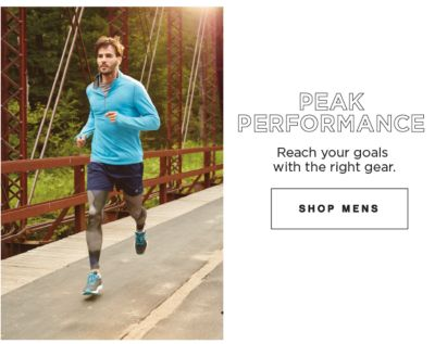 Peak Performance | Reach your goals with the right gear | shop mens