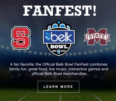 FANFEST! | A fan favorite, the Official Belk Bowl FanFest combines family fun, great food, live music, interactive games and official Belk Bowl merchandise | learn more