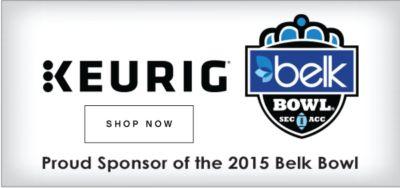 Keurig | Proud Sponsor of the 2015 Belk Bowl | shop now