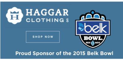 Haggar Clothing | Proud Sponsor of the 2015 Belk Bowl | shop now