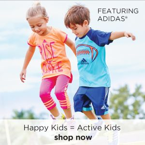 Happy Kids = Active Kids | featuring Adidas | shop now