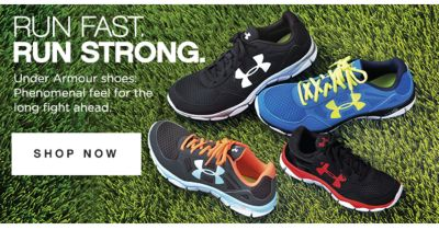 RUN FAST. RUN STRONG. | Under Armour shoes. Phenomenal feel for the long fight ahead | shop now