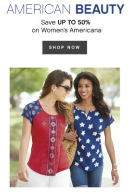 AMERICAN BEAUTY | Save UP TO 50% on Women's Americana | shop now