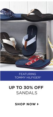 UP TO 30% OFF SANDALS | featuring Tommy Hilfiger® | shop now