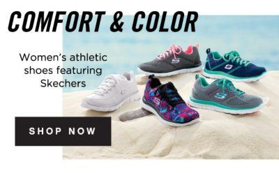 COMFORT & COLOR - Women's athletic shoes featuring Skechers | shop now