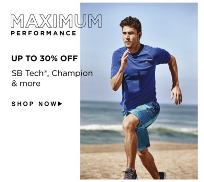 Maximum Performance - Up to 30% off SB Tech®, Champion & more. Shop Now.