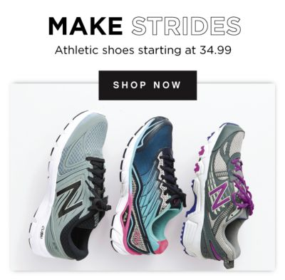 Make Strides - Athletic shoes starting at 34.99. Shop Now.