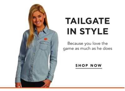 Tailgate in Style - Because you love the game as much as he does. Shop Now.