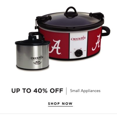 Up to 40% off Small Appliances. Shop Now.