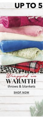Wrapped in Warmth - Up to 50% off throws & blankets. Shop Now.