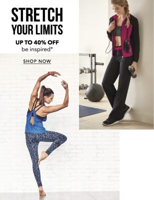 Stretch Your Limits - Up to 40% off be inspired®. Shop Now.