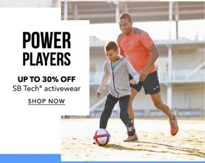 Power Players - Up to 30% off SB Tech® activewear. Shop Now.