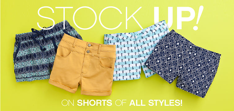 Stock Up! On Shorts of All Styles!