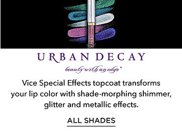 Urban Decay Vice Special Effects lip topcoat shade-morphing shimmer, glitter and metallic effects. All Shades.