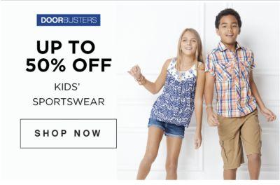 DOORBUSTERS | UP TO 50% OFF KIDS' SPORTSWEAR | SHOP NOW