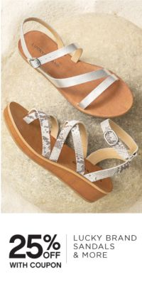 25% OFF WITH COUPON | LUCKY BRAND SANDALS & MORE
