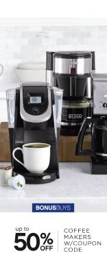 BONUSBUYS | up to 50% OFF COFFEE MAKERS W/COUPON CODE