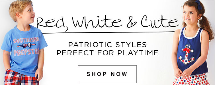 Red, White & Cute Patriotic Styles Perfect for Playtime | Shop Now