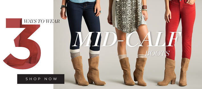3 ways to wear mid-calf boots | shop now