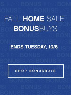 Fall Home Sale Bonus Buys Ends Tuesday, 10/6