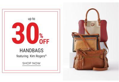 up to 30% handbags