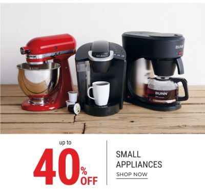 up to 40% small appliances