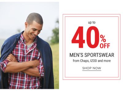 up to 40% mens sportswear