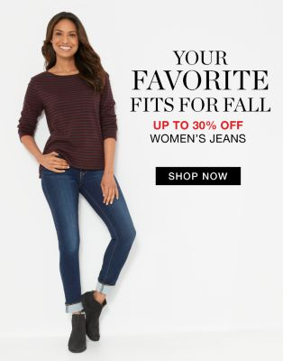 Your Favorite Fits for Fall - Up to 30% off Women's Jeans - Shop Now