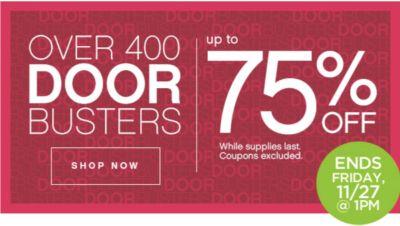 Up to 75% Off Door Busters