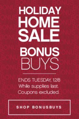 Holiday Home Sale Bonus Buys