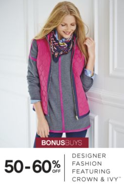 BONUSBUYS | 50-60% OFF | DESIGNER FASHION FEATURING CROWN & IVY™