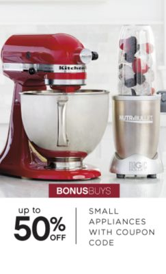 BONUSBUYS | up to 50% OFF SMALL APPLIANCES WITH COUPON CODE