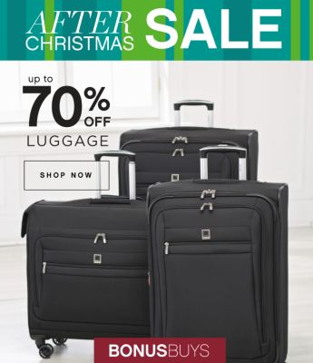 AFTER CHRISTMAS SALE | up to 70% OFF LUGGAGE | SHOP NOW | BONUSBUYS