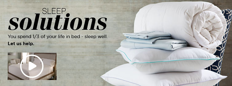 SLEEP solutions | You spend1/3 of your life in bed - sleep well. | Let us help.
