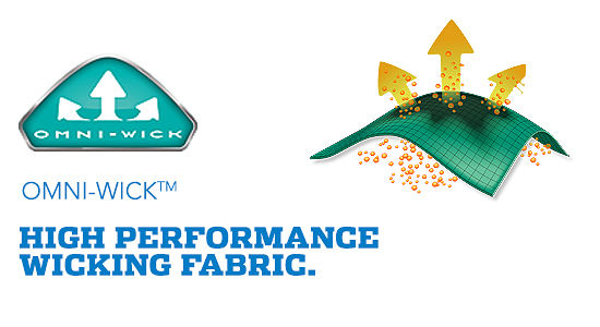 Omni–Wick™ High Performance Wicking Fabaric