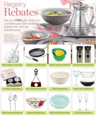 registry rebates get your free gifts when you complete your belk wedding registry from the top