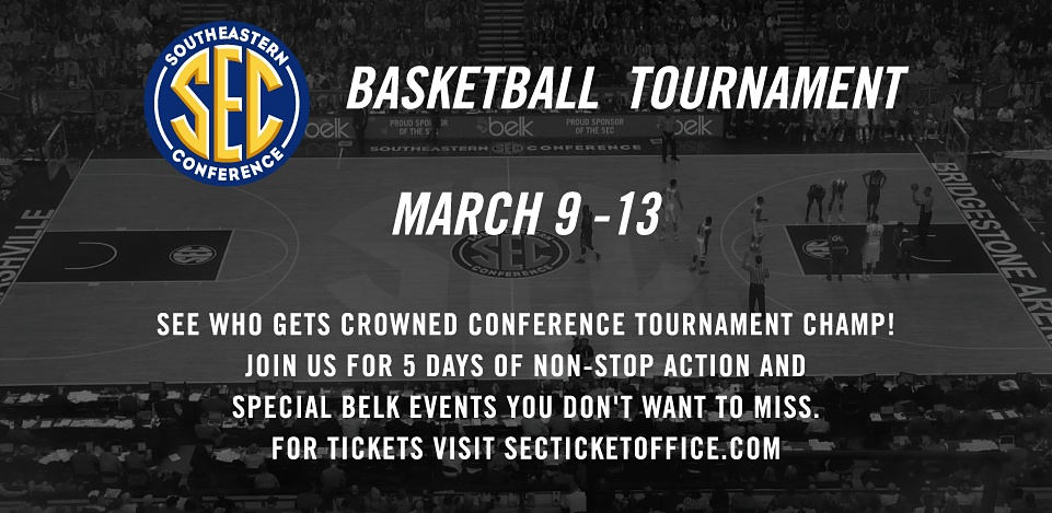 Basketball Tournament March 9-13 | See who gets crowned conference tournament Champ! Join Us for 5 days of non-stop action and special belk events you don't want to miss. For Tickets visit secticketoffice.com