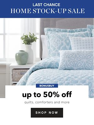 BONUSBUY - Up to 50% off Quilts, comforters & more. Shop Now.
