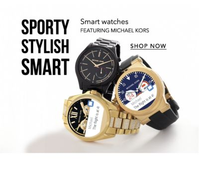 Sporty. Stylish. Smart. Smart watches featuring Michael Kors - Shop Now