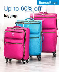 up to 60% off luggage | bonus buys