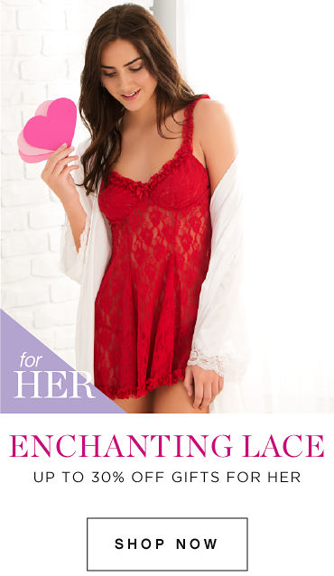 Enchanting Lace for Her | Up to 30% off Gifts for Her - Shop Now