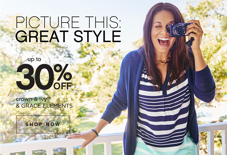 Picture This: Great Style | Up to 30% off crown & ivy™ & GRACE ELEMENTS - Shop Now