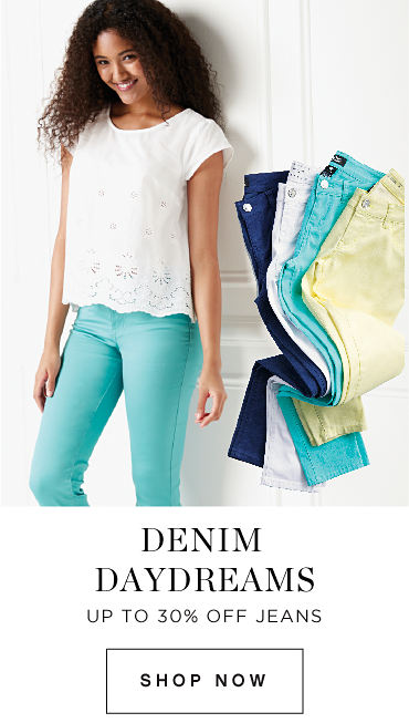 Denim daydreams | Up to 30% off jeans | shop now