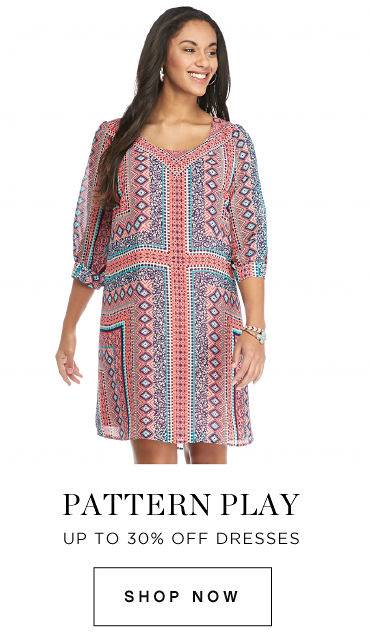 Pattern play | Up to 30% off dresses | shop now
