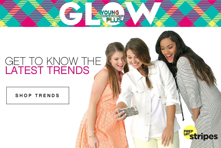 Glow young contemporary plus | Get to know the latest trends | Prep up! stripes | shop trends