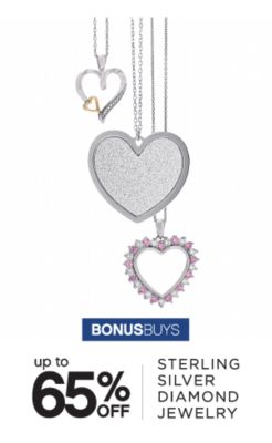BONUSBUYS | up to 65% OFF | STERLING SILVER DIAMOND JEWELRY