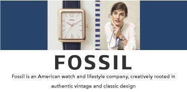 Fossil fossil is an American watch and lifestyle company, creatively rooted in authentic vintage and classic design