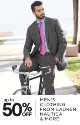up to 50% OFF | MEN'S CLOTING FROM LAUREN, NAUTICE & MORE